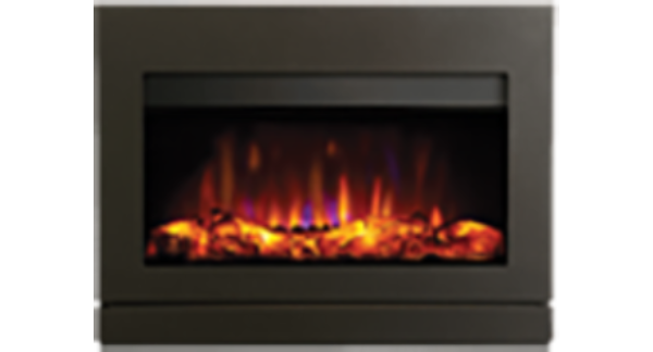 Riva2 Graphite Frame Electric Fire